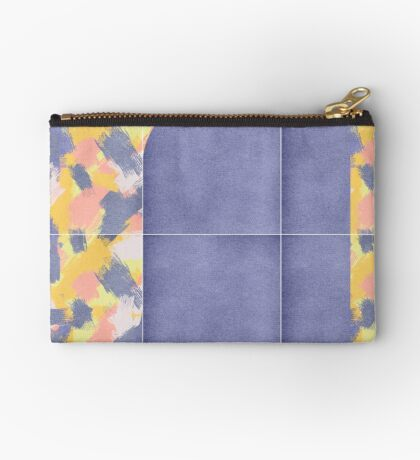 Messy Painted Tiles 02 #redbubble #midmod Zipper Pouch
