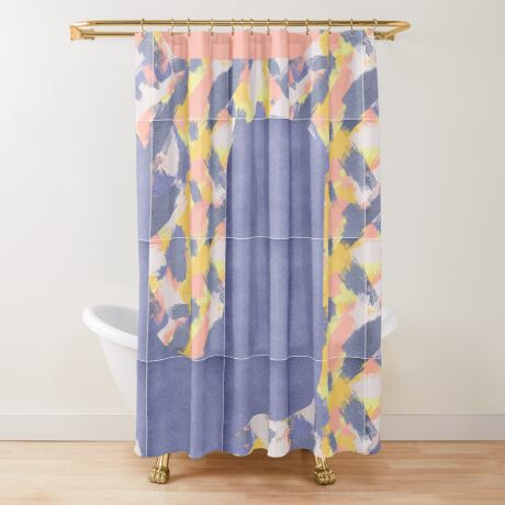 Messy Painted Tiles 02 #redbubble #midmod Shower Curtain
