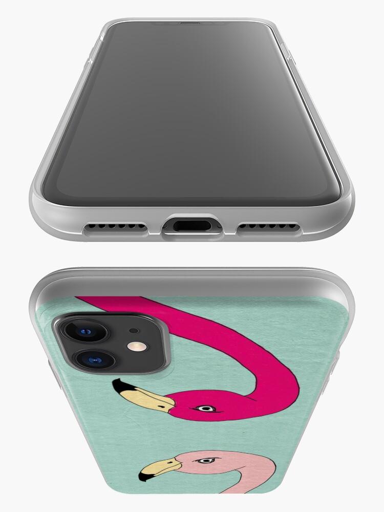 Alternate view of Flamingo Fever iPhone Case & Cover
