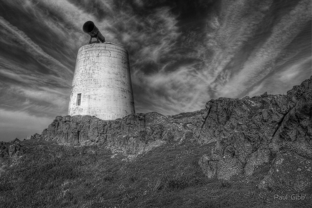 Fog horn on The Isle of May by Paul  Gibb