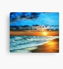 Shore view at sunset Canvas Print