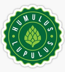 Humulus Lupulus Bottle Cap Graphic Tee Sticker
