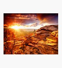 Sun eyeing the Rocks Photographic Print