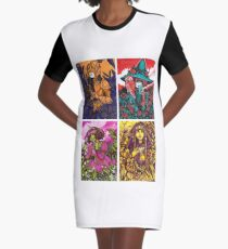 The story of the ages Complementary colours Graphic T-Shirt Dress