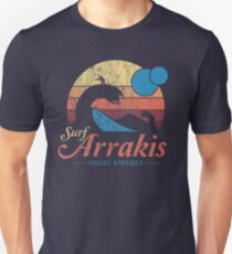Besuchen Sie Arrakis - Vintage Distressed Surf - Dune - Sci Fi Slim Fit T-Shirt
