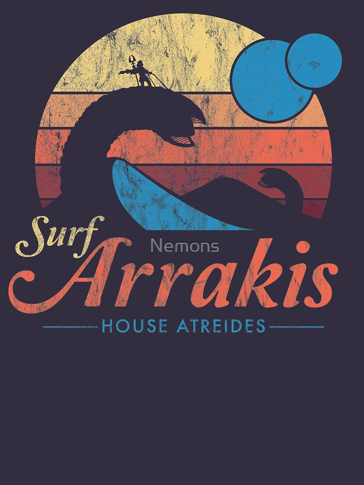Visit Arrakis - Vintage Distressed Surf - Dune - Sci Fi by Nemons