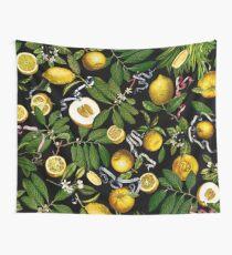 Zitronenbaum - Schwarz Wandbehang