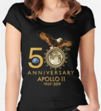50th Anniversary Apollo 11 moon landing 1969-2019 Fitted Scoop T-Shirt