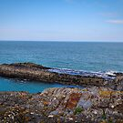 Rocks & Blue Ocean - Coastal Scenery - Ceibwr Bay by Harmony-Mind