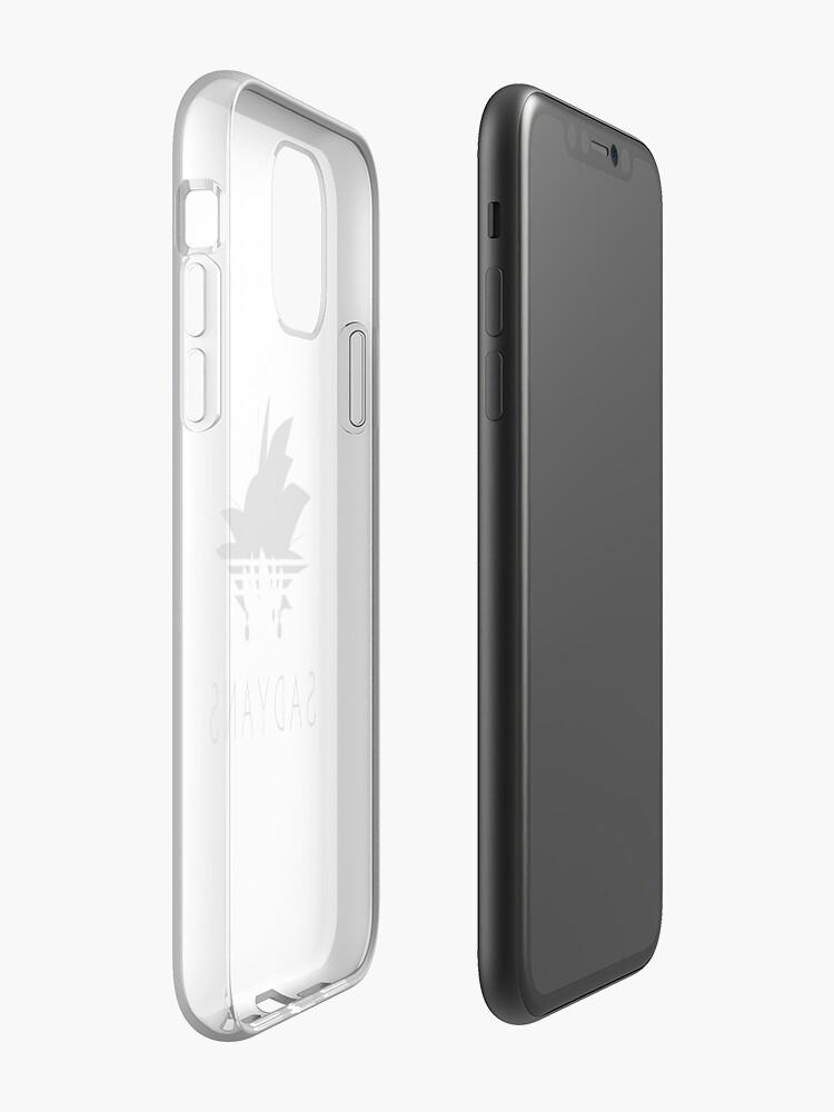 Coque iPhone «Sadyans Goku adidas version piège», par NE0T0KY0