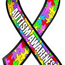 Autism awareness puzzle ribbon by bmgdesigns