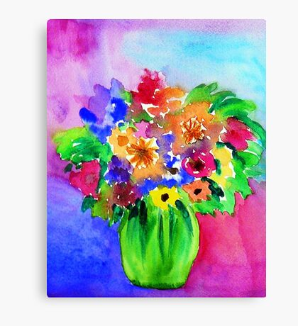 Bright Bouquet Canvas Print