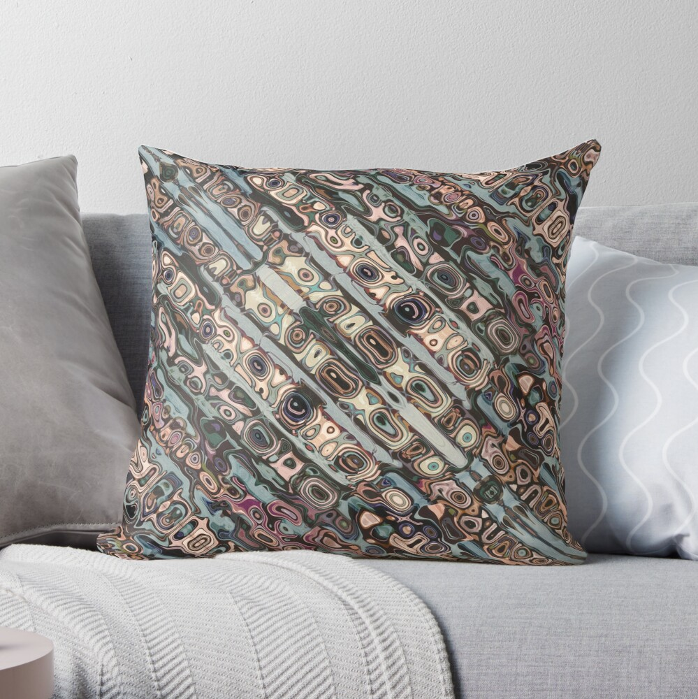 Abstract Textured Earth Tones Pattern Throw Pillow