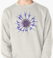 Thin blue flames in a sea of green Pullover Sweatshirt