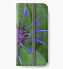 Thin blue flames in a sea of green iPhone Wallet/Case/Skin