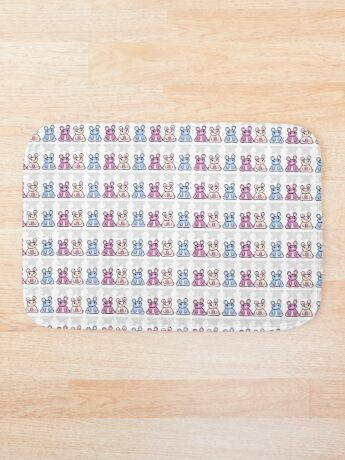 STPC: Three Chibis (Sitting)  Bath Mat