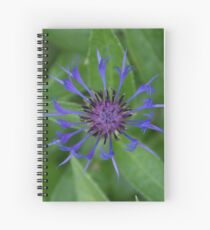Thin blue flames in a sea of green Spiral Notebook