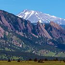 Boulder Flatirons and Longs Peak by Bo Insogna