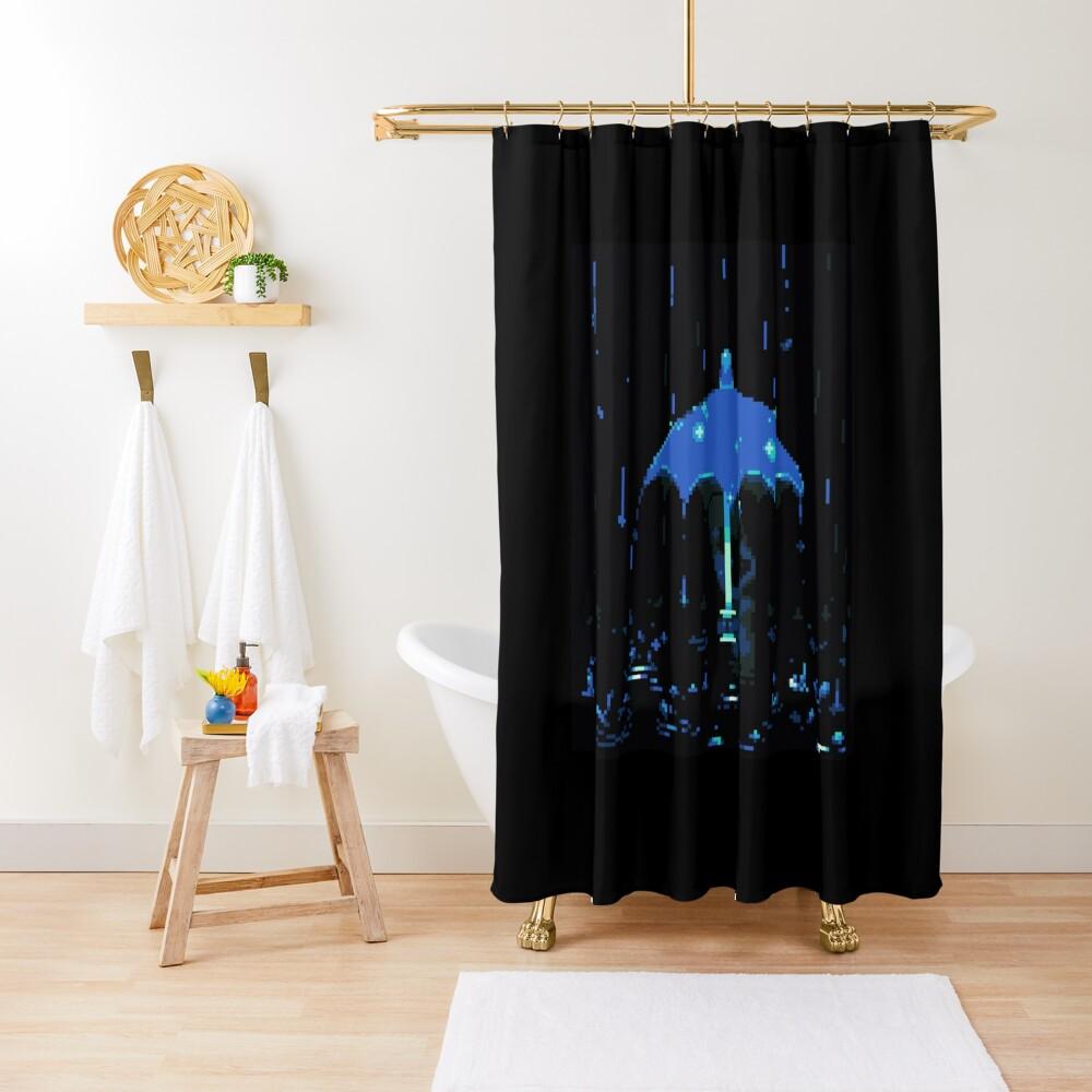 Bernard in the Rain Shower Curtain