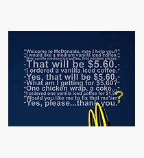 Mcdonalds Photographic Print
