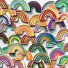Rainbow Watercolor Stickers by Robayre