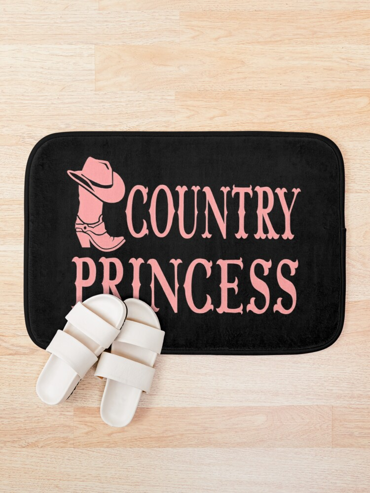 Country Girl Princess Horse Cowgirl Line Dancing Farm, Rode Western Boots  Cowboy Hat | Bath Mat