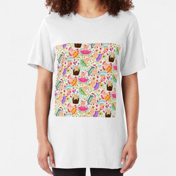 Dancing Pigs Slim Fit T-Shirt