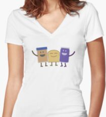 Best Friends Fitted V-Neck T-Shirt