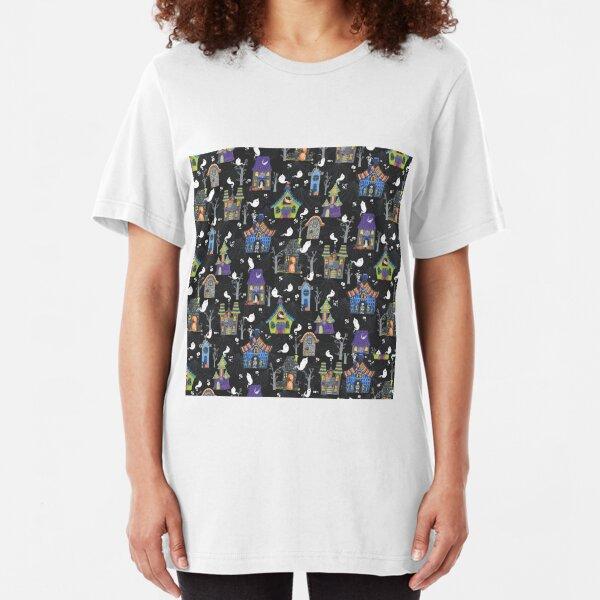 Haunted Houses Slim Fit T-Shirt
