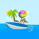 Sloth Down and Enjoy Life, Island Paradise Joypixels Emoji by sandyspider