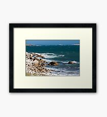 Crystal Crescent Waves Framed Print