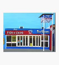 Fish and Chips and Ice Cream Parlour Photographic Print