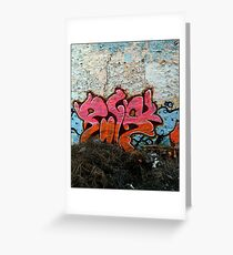 Graffiti Peel Wall Greeting Card