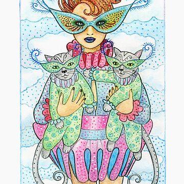 Feline Masquerade by laurajholman