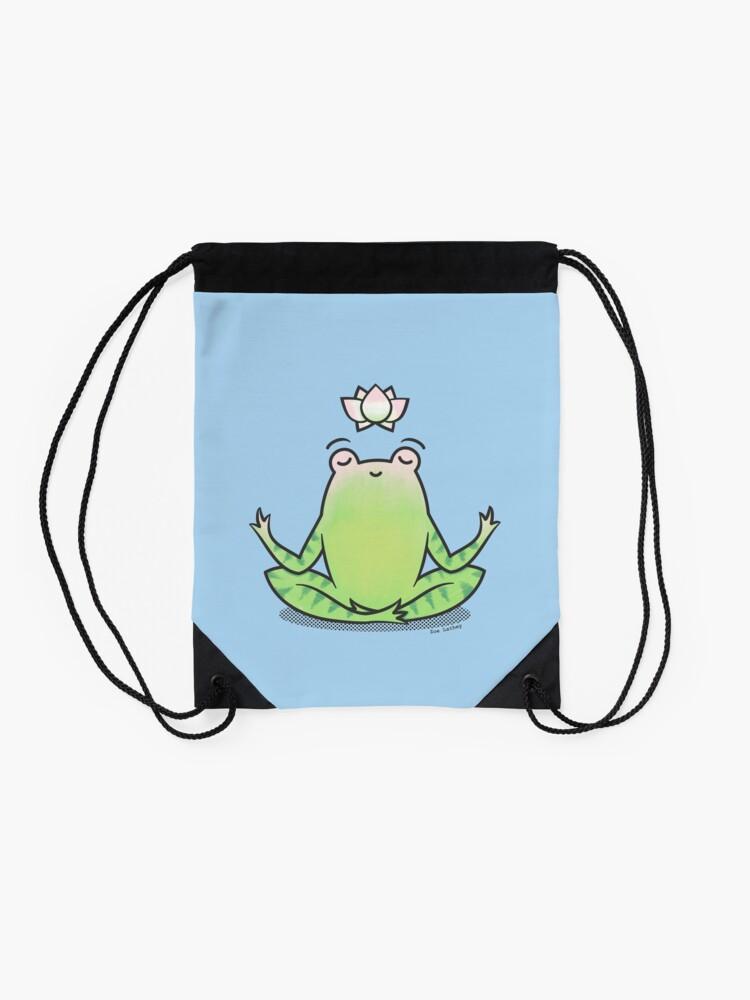 Alternate view of Zen Yoga Frog  Drawstring Bag