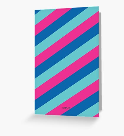 Simplee Cards: Stripes 2 of 9  Greeting Card