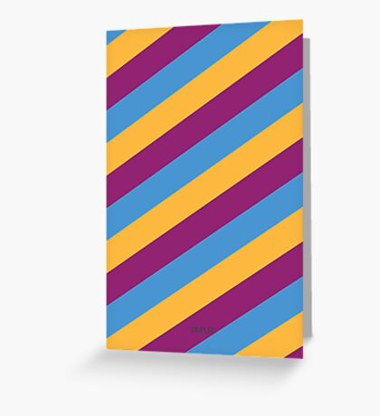 Simplee Cards: Stripes 8 of 9  Greeting Card