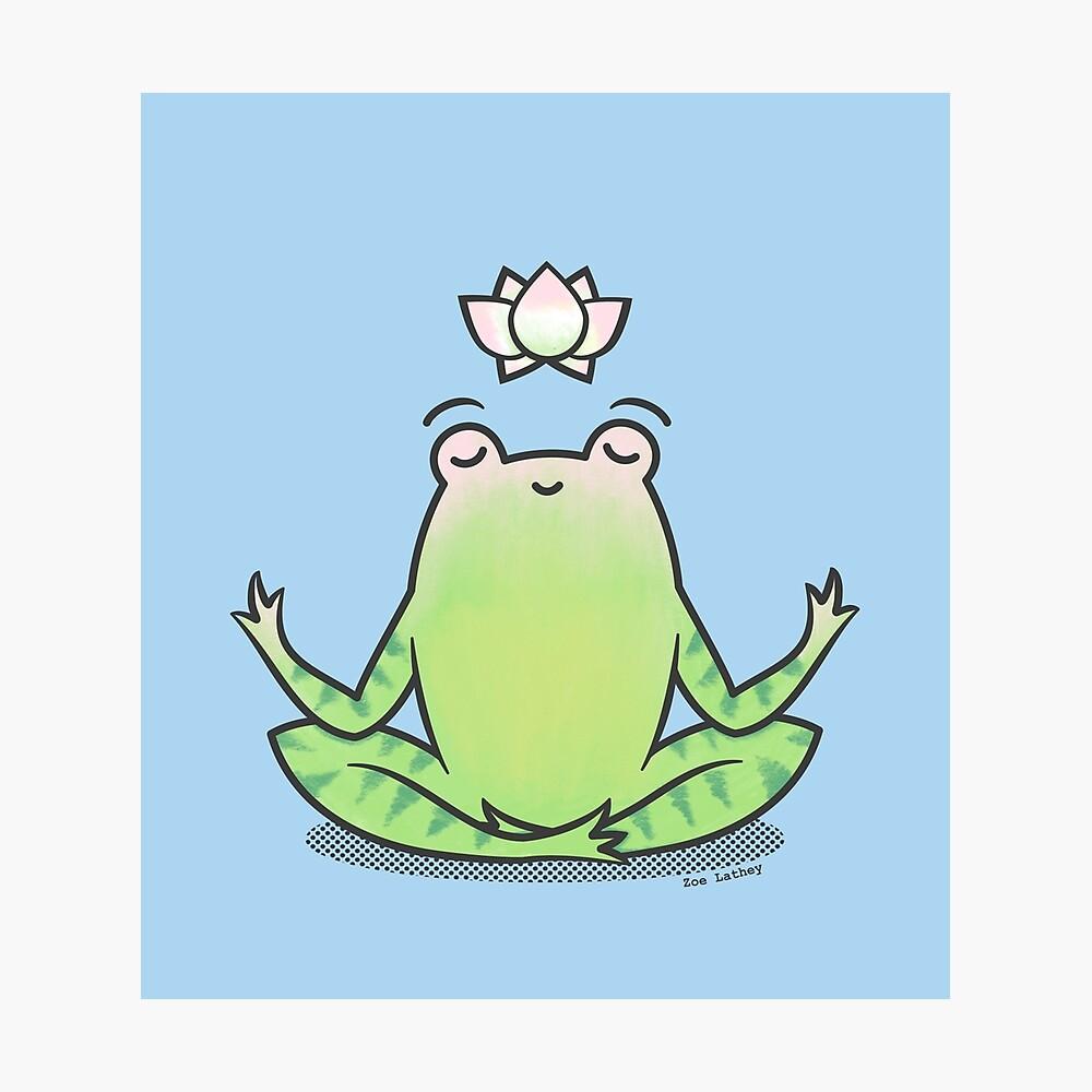Zen Yoga Frog  Photographic Print