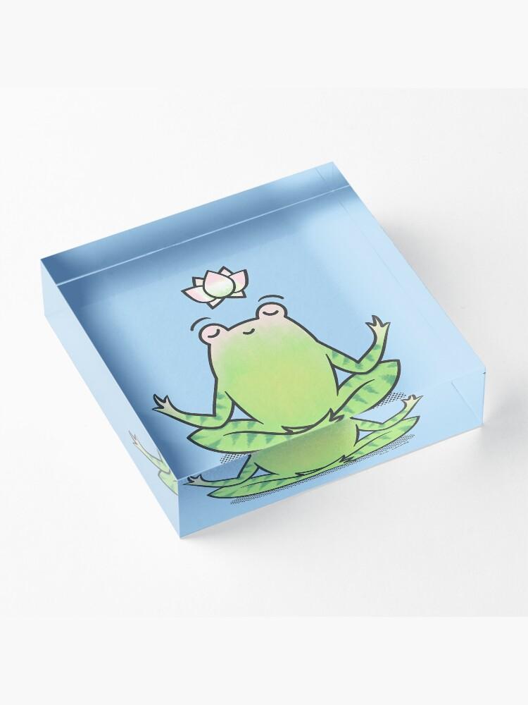 Alternate view of Zen Yoga Frog  Acrylic Block