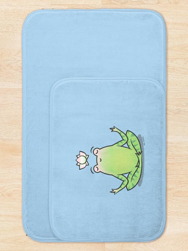 Alternate view of Zen Yoga Frog  Bath Mat