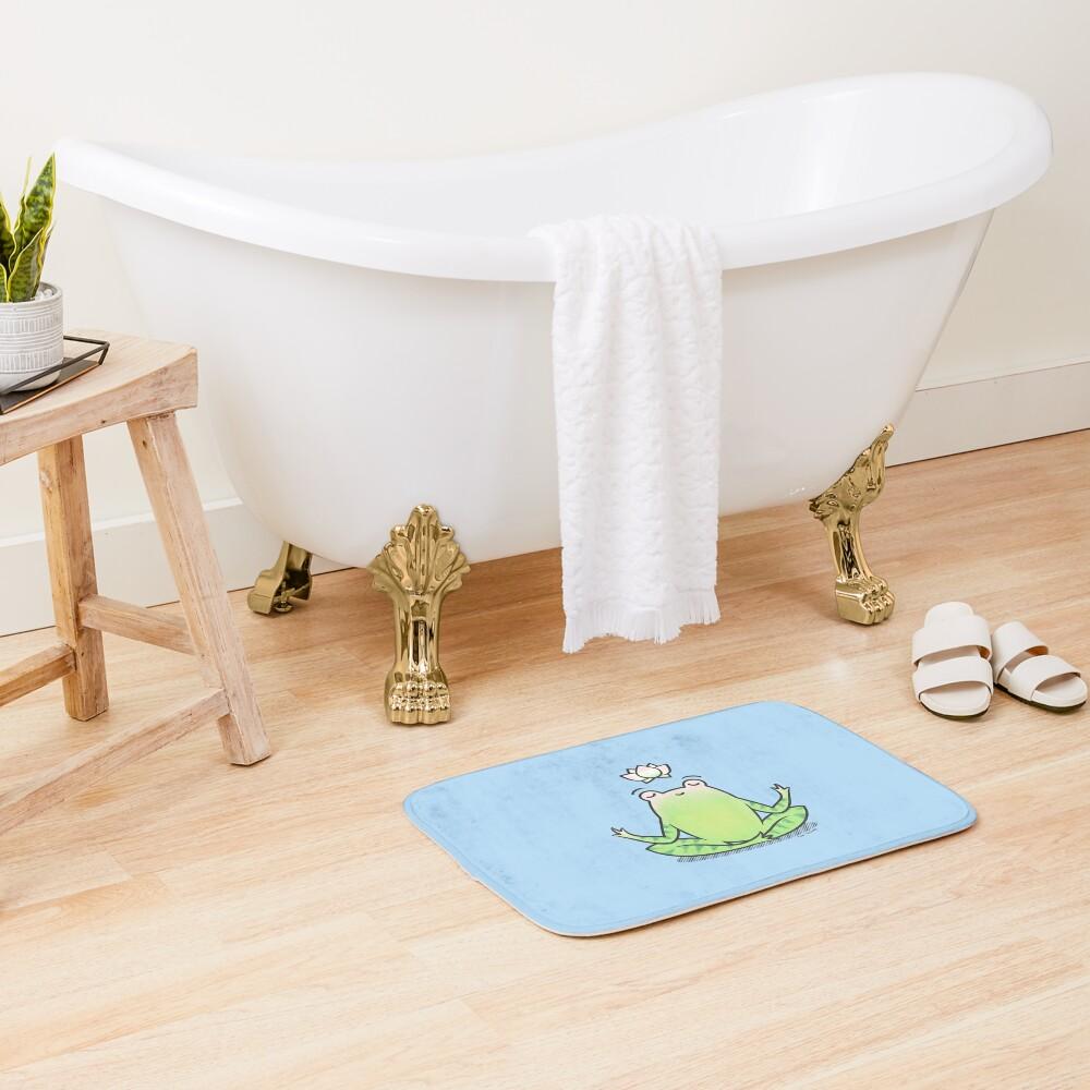 Zen Yoga Frog  Bath Mat