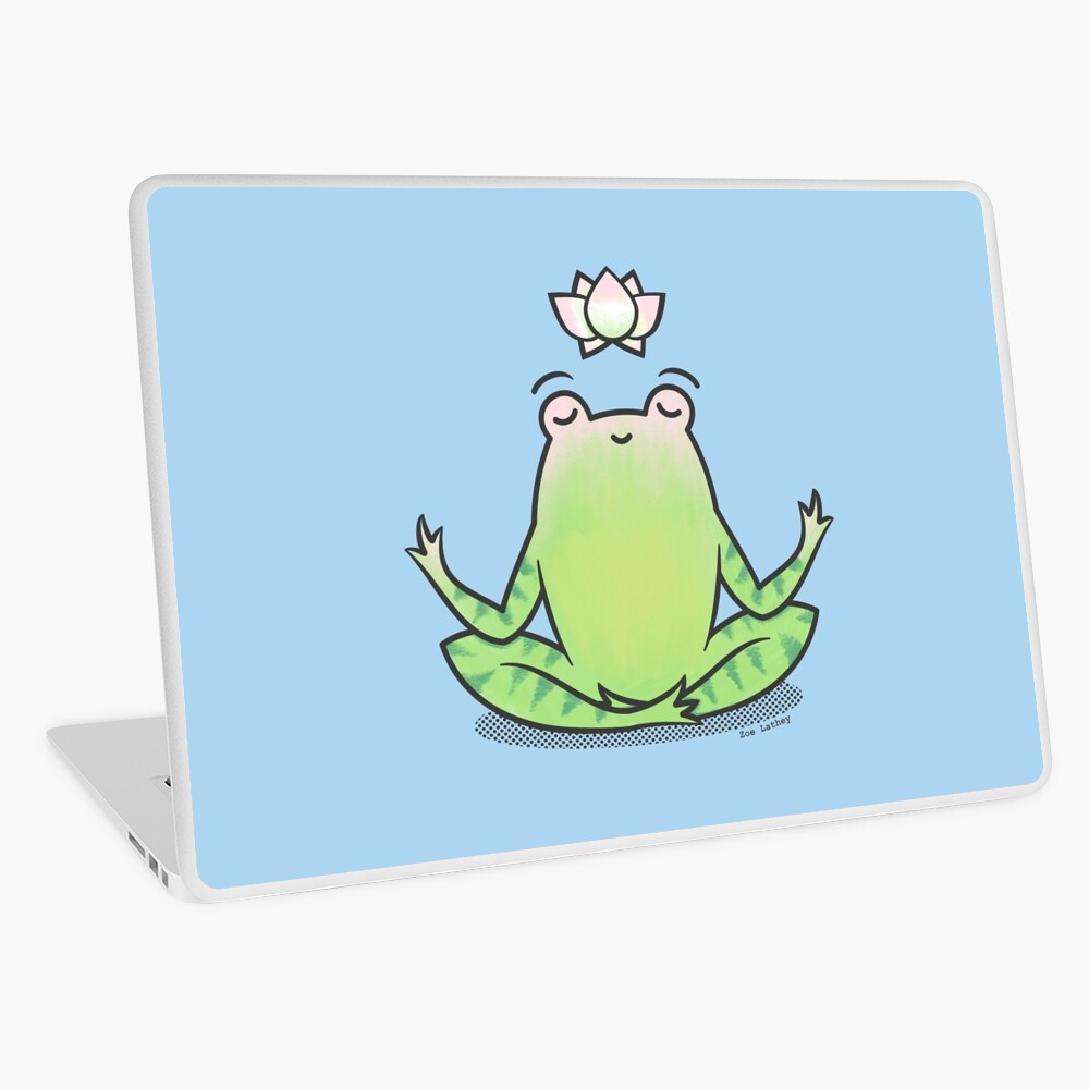 Zen Yoga Frog  Laptop Skin