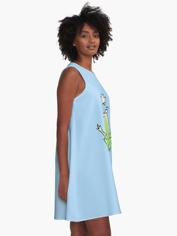 Alternate view of Zen Yoga Frog  A-Line Dress