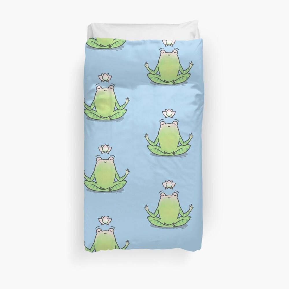 Zen Yoga Frog  Duvet Cover