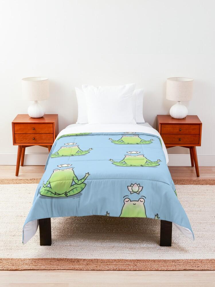 Alternate view of Zen Yoga Frog  Comforter