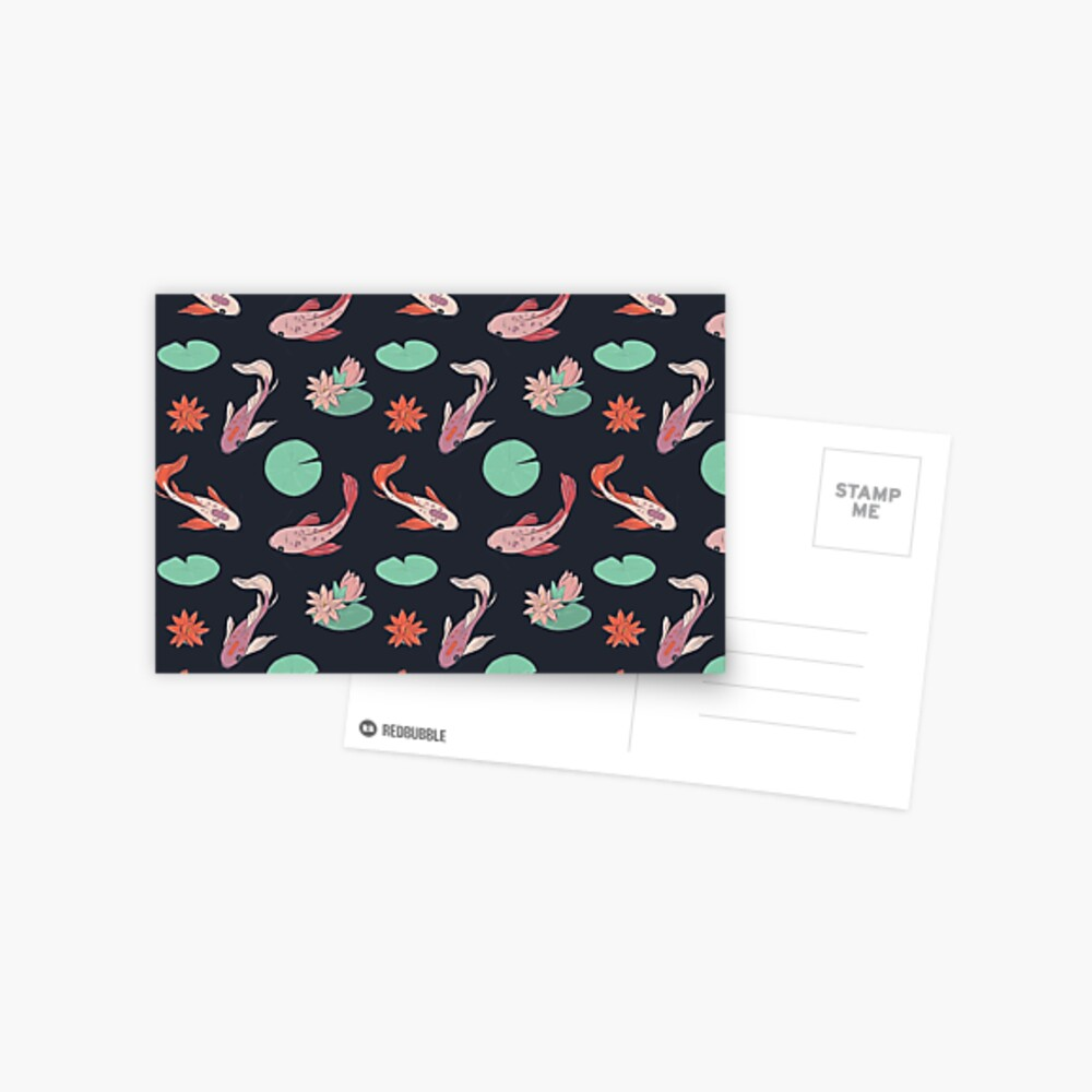 Koi fish oriental design Postcard