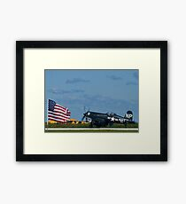 Corsair and the Flag Framed Print