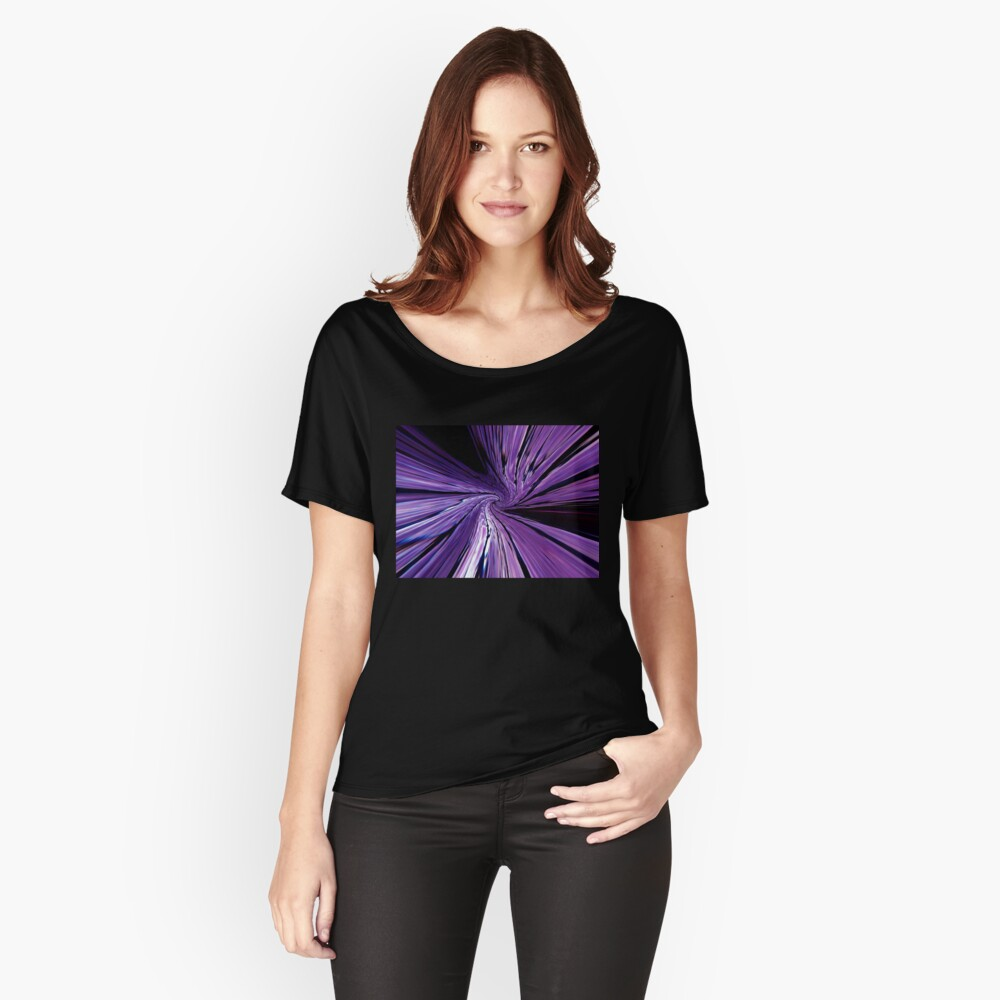 #134           Purple Warp Women's Relaxed Fit T-Shirt Front