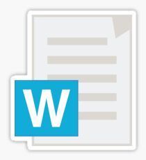 Microsoft Word Sticker Sticker