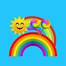 Sunshine, Lollipops and Rainbows Happy Day Joypixels Emoji by sandyspider